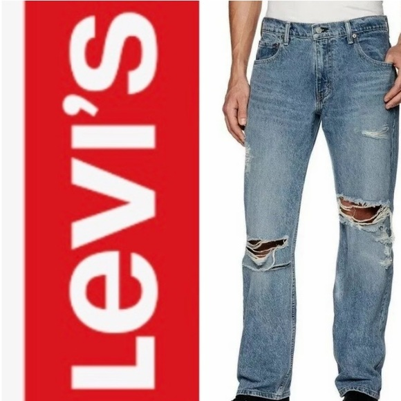 LEVI'S 569 Jeans Mens Distressed Destroyed Ripped